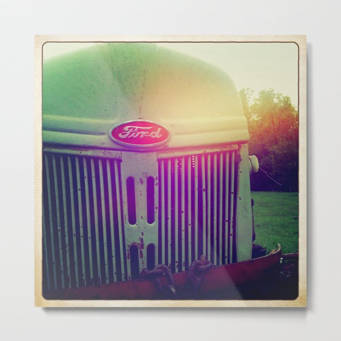 Sunset grill Metal Print