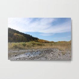Bow River on a fall afternoon Metal Print