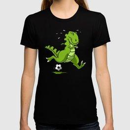 Soccer T-Rex Dinosaur T-shirt