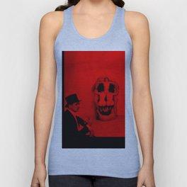 Salvador Dali with Women Skull (Photographic Art) Unisex Tank Top