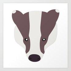 Badger nº5 Art Print
