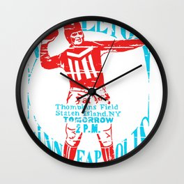 Minneapolis vs Stapleton Wall Clock
