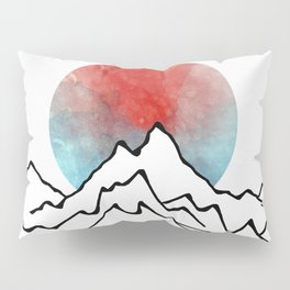 Red Sun Over The Mountains Pillow Sham