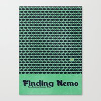 finding nemo Canvas Prints featuring Finding Nemo by Matt Bacon