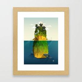 Pineapple isle Framed Art Print