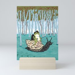 The Snail and The Frog Mini Art Print