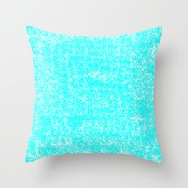 Speckled Robbin Egg Blue Throw Pillow