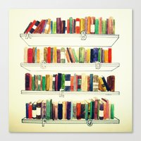 books Canvas Prints featuring Books by Ela Caglar