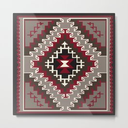 American Native Pattern No. 31 Metal Print