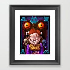 The Happy Mask Salesman Framed Art Print