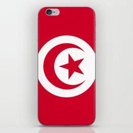 Tunisia flag emblem iPhone Skin