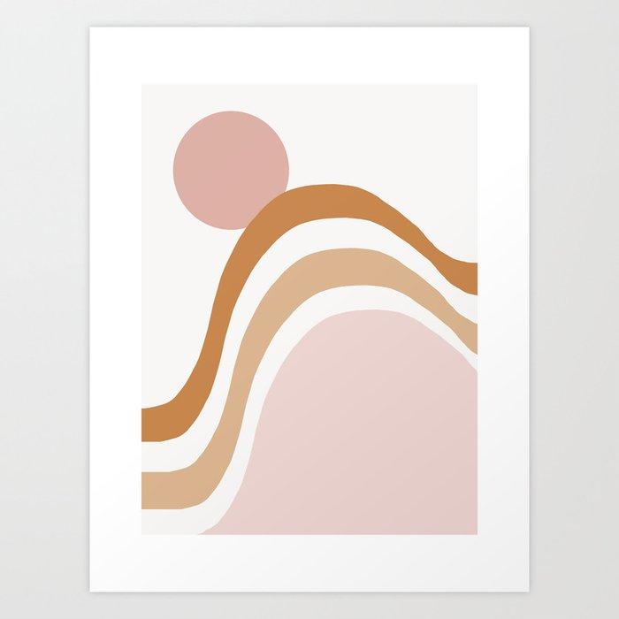 Hosanna - abstract minimalist earth tones sunset desert mountain art print  Art Print by oliviastjames