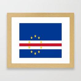 Flag of Cape Verde Framed Art Print