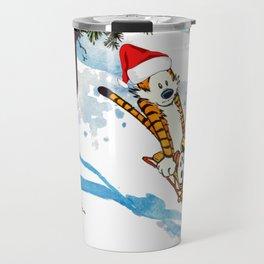 Calvin Hobbes Christmas Travel Mug