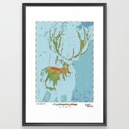 Cervidae - Land of the Deer Framed Art Print