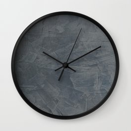 Slate Gray Stucco - Faux Finishes - Rustic Glam Wall Clock