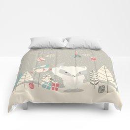 Christmas baby fox 04 Comforters