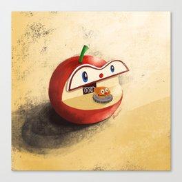 Apple Worm Bank Canvas Print
