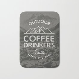 Outdoor Coffee Drinkers Club Bath Mat