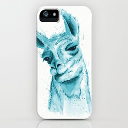 Llama in Teal iPhone Case