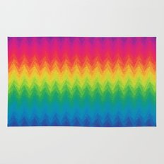 neon rainbow feather chevron  Rug