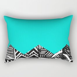 Sky lino bright Rectangular Pillow
