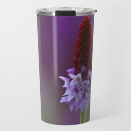 Photograph of a Primula Vialii (Chinese Pagoda Primrose) Travel Mug