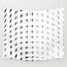 Rhythm of black dots on white background Wall Tapestry