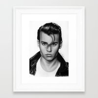 johnny depp Framed Art Prints featuring Johnny Depp by Art by Ana Mendes