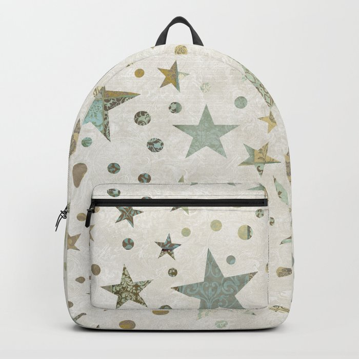 Patchwork Stars Pattern Backpack