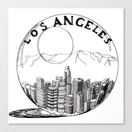 Los Angeles in a glass ball . Canvas Print