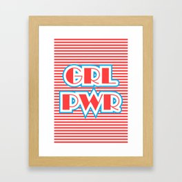 GRL PWR, Girl Power (red version) Framed Art Print