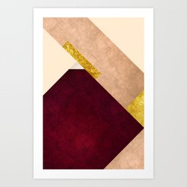 Modern Mountain No3-P1 Art Print