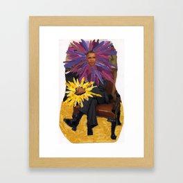 Obamaflower Framed Art Print