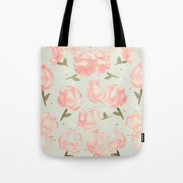 Syana's Cabbage Roses Tote Bag