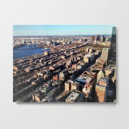 Boston from the Top Metal Print