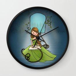 Drawn to Tomorrow Wall Clock