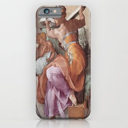 The Libyan Sybil Sistine Chapel Ceiling by Michelangelo iPhone Case