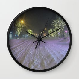 Commute Blizzard of 2016 Wall Clock