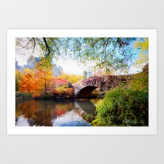 Last Autumn in Central Park Art Print