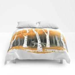 Autumn Wolf Comforters