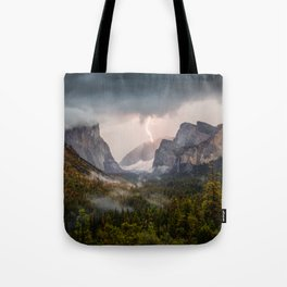 Yosemite National Park Light Show Tote Bag