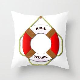 RMS Lifebelt Throw Pillow