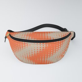 pattern growing squares chevron orange tan Fanny Pack