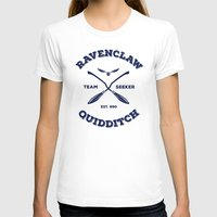 quidditch T-shirts featuring Ravenclaw Quidditch Team Seeker: Blue by Sharayah Mitchell