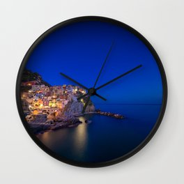 As the night falls over Manarola Wall Clock