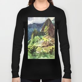 Machu Picchu Peru South America Long Sleeve T-shirt