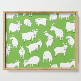 Green Goats Serving Tray