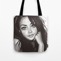 aaliyah Tote Bags featuring 98 by duchess365