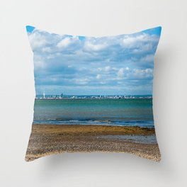 Portsmouth from the Island Throw Pillow
